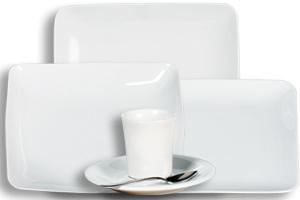 Location vaisselle : assiettes-Square - Ambassade Receptions