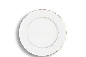 Location vaisselle : assiette creuse filet d'or - Ambassade Receptions