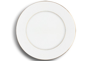 Location vaisselle : assiette plate filet or - Ambassade Receptions