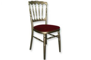 Location mobilier : chaise rouge et or Napoleon III- Ambassade Receptions