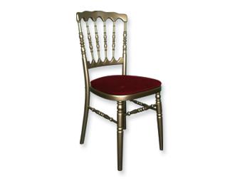 Chaises Napoleon III Rouge Et Or