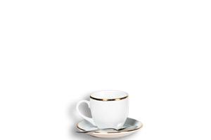 Complet Café (tasse,  sous tasse, cuillère à Moka) FO