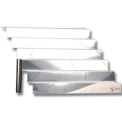 Location vaisselle : escalier rectangulaire en inox - Ambassade Receptions