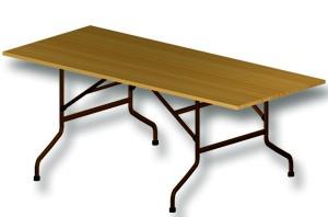 Location mobilier : table banquet 200x85cm - Ambassade Receptions