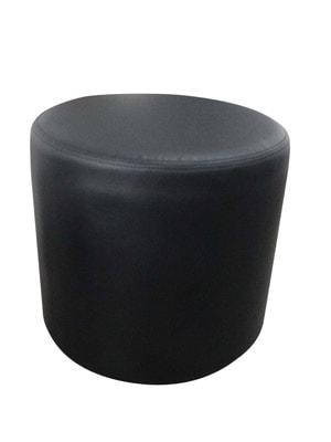 Location Mobilier : pouf rond noir - Ambassade Receptions