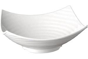 Saladier Mélamine Blanc 35x35cm