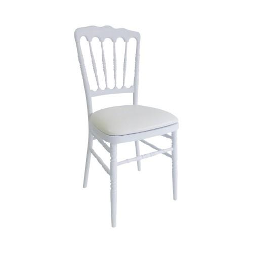 chaise napol on iii blanche en r sine ev nement mariage ambassade r ceptions. Black Bedroom Furniture Sets. Home Design Ideas