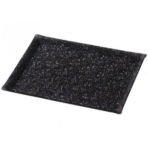 Plateau Crystal Noir 60x40cm