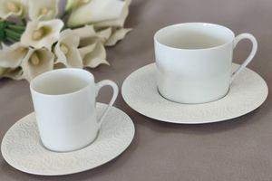 Complet Café (tasse, sous tasse, cuillère à Moka) CT